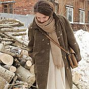 Одежда ручной работы. Ярмарка Мастеров - ручная работа Утеплённое зимнее пальто, рукав-реглан, О-образный силуэт. Handmade.