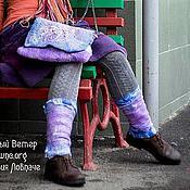 """Сумки и аксессуары ручной работы. Ярмарка Мастеров - ручная работа Войлочные гетры и сумка """"Яркая весна"""". Handmade."""