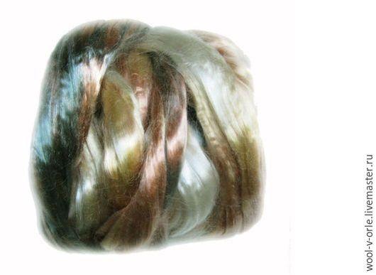 """Валяние ручной работы. Ярмарка Мастеров - ручная работа. Купить Мультиколор. Бамбуковое волокно тенсел. Цвет """"Осень"""". Handmade. Разноцветный"""