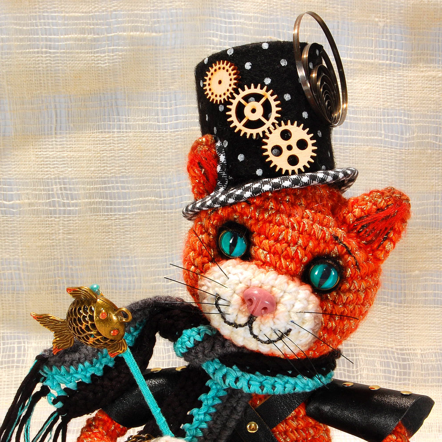 Steampunk cat ' Abigail', Tilda Toys, St. Petersburg,  Фото №1