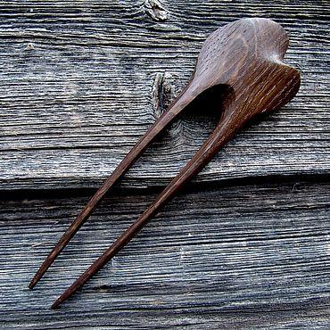Украшения ручной работы. Ярмарка Мастеров - ручная работа Заколки: Шпилька для волос из дуба. Handmade.