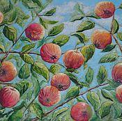 """Картины и панно ручной работы. Ярмарка Мастеров - ручная работа Картина """"Яблоки"""". Handmade."""