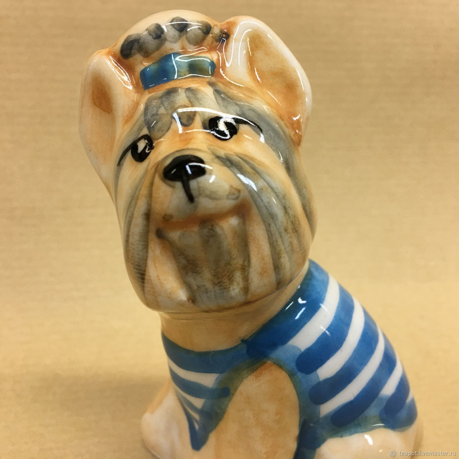 Yorkshire Terrier porcelain figurine, Figurine, Moscow,  Фото №1