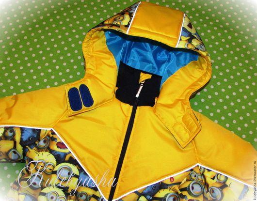 """Одежда для мальчиков, ручной работы. Ярмарка Мастеров - ручная работа. Купить Зимний/демисезонный комплект """"Миньоны"""" желтый. Handmade. Миньоны, полукомбинезон"""
