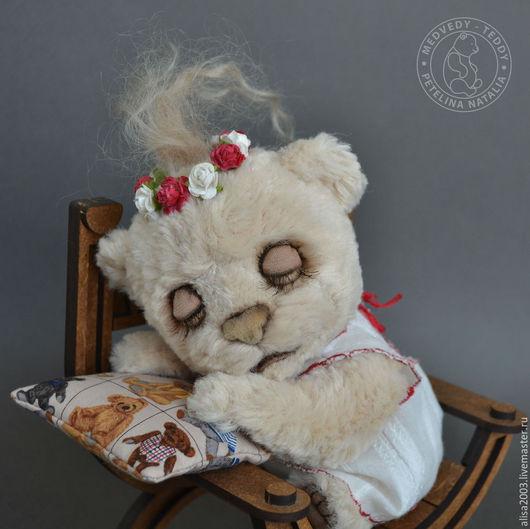 Мишки Тедди ручной работы. Ярмарка Мастеров - ручная работа. Купить Соломия. Handmade. Бежевый, подарок девушке, в платье, украинка