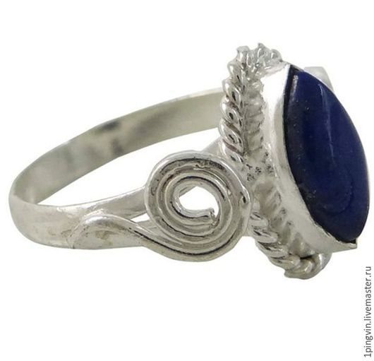 Кольцо с лазуритом. Маркиза