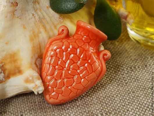 Для украшений ручной работы. Ярмарка Мастеров - ручная работа. Купить Аромакулон керамический №9 (красный). Handmade. Аромакулон, ароматерапия