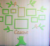 Для дома и интерьера ручной работы. Ярмарка Мастеров - ручная работа Семейное дерево с фоторамками. Handmade.