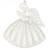 Сувениры и подарки handmade. Livemaster - original item Embroidered interior hanging White angel Fairy Music toy 10pcs. Handmade.