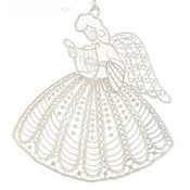 handmade. Livemaster - original item Embroidered interior hanging White angel Fairy Music toy 10pcs. Handmade.