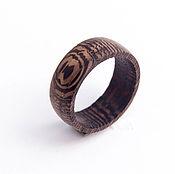 Украшения ручной работы. Ярмарка Мастеров - ручная работа Кольцо из дерева венге. Handmade.