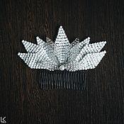 Свадебный салон ручной работы. Ярмарка Мастеров - ручная работа Гребень с лепестками. Handmade.