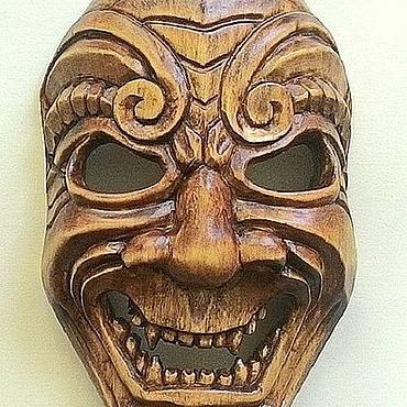 """Картины и панно ручной работы. Ярмарка Мастеров - ручная работа """"Маска Самурая"""" - деревянная маска. Ручная работа. Handmade."""