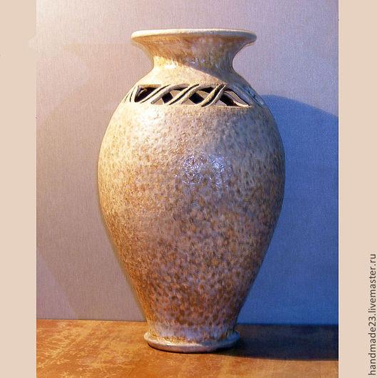"""Вазы ручной работы. Ярмарка Мастеров - ручная работа. Купить ваза """"пляж"""". Handmade. Ваза для цветов, глина"""