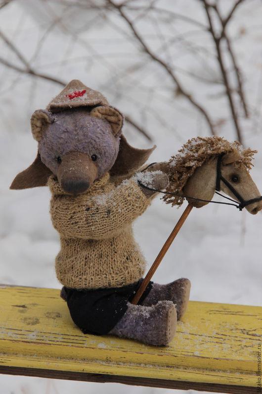 Мишки Тедди ручной работы. Ярмарка Мастеров - ручная работа. Купить мишка тедди Петька кавалерист:). Handmade. Бежевый, военный