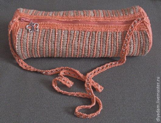 """Женские сумки ручной работы. Ярмарка Мастеров - ручная работа. Купить """"Апельсин. Handmade. Рыжий, сумочка через плечо"""