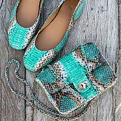 Обувь ручной работы handmade. Livemaster - original item Ballet shoes made of genuine Python leather. Leather ballet shoes. Handmade.