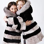 Одежда детская handmade. Livemaster - original item Children`s mouton fur coat