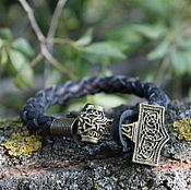 Украшения handmade. Livemaster - original item Copy of Copy of Leather bracelet - Bear. Handmade.