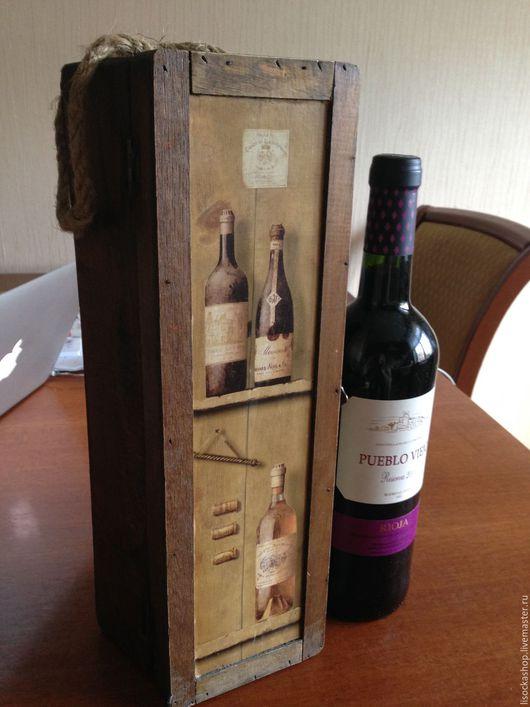 Винтажные сувениры. Ярмарка Мастеров - ручная работа. Купить винтажная коробка для вина. Handmade. Коричневый, коробка для вина