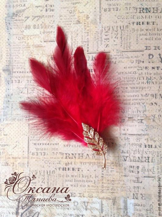 """Заколки ручной работы. Ярмарка Мастеров - ручная работа. Купить Заколочка  """"Леди в красном""""  в стиле Гэтсби. Handmade. Ярко-красный"""