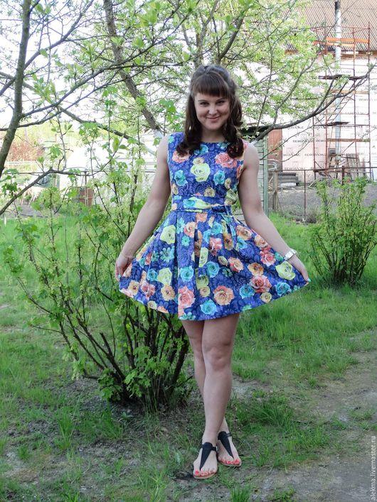 Платья ручной работы. Ярмарка Мастеров - ручная работа. Купить платье летнее с цветочным принтом Летние грёзы 2. Handmade.