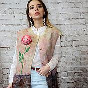 Одежда handmade. Livemaster - original item Vest felted Thirst for life....!. Handmade.