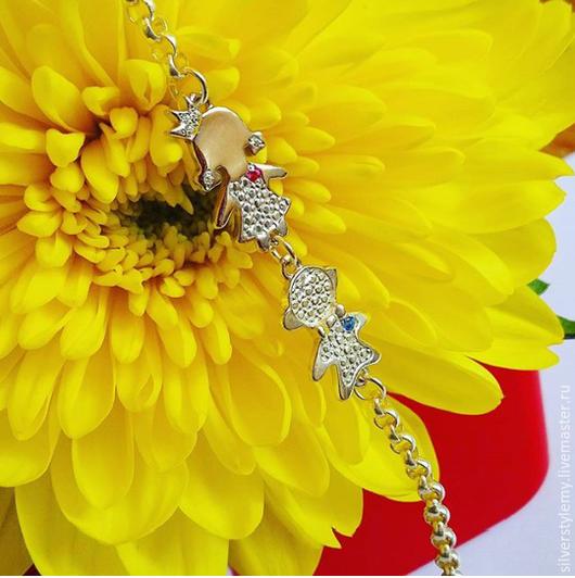 Браслеты ручной работы. Ярмарка Мастеров - ручная работа. Купить браслет детки для мамы принцесса и кавалер серебро. Handmade. Серебряный