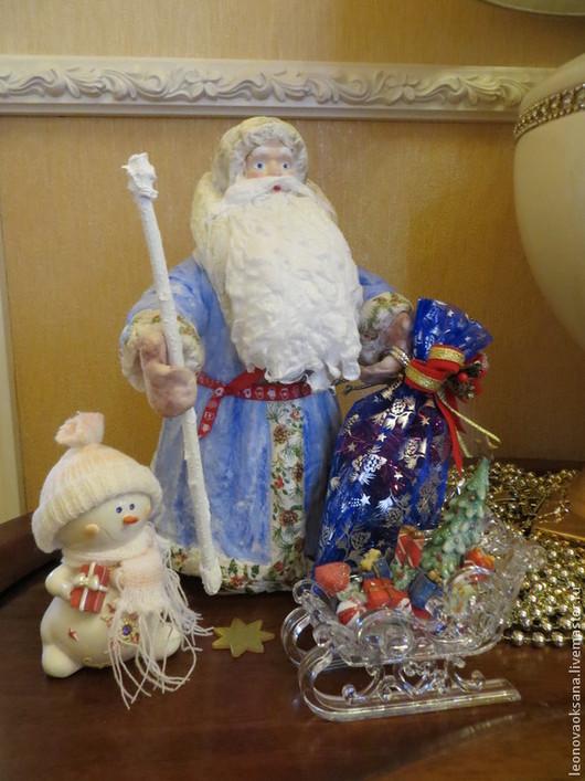Новый год 2017 ручной работы. Ярмарка Мастеров - ручная работа. Купить Ватный Дедушка Мороз. Handmade. Ватная игрушка, декупаж