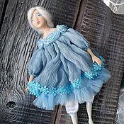 Dolls handmade. Livemaster - original item boudoir doll (talker) in a blue dress