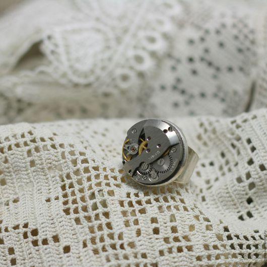 Кольца ручной работы. Ярмарка Мастеров - ручная работа. Купить Кольцо в стиле стимпанк 3. Handmade. Серебряный, стимпанк кольцо