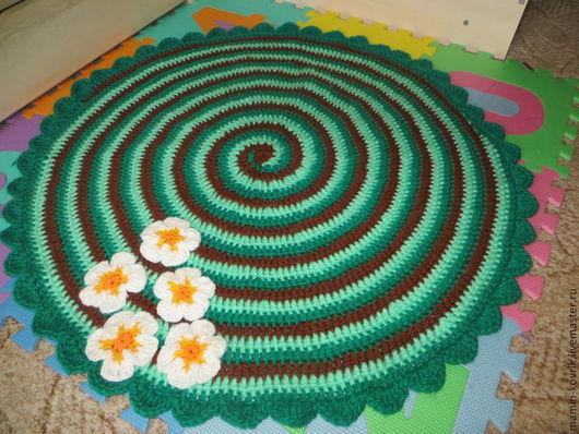 Текстиль, ковры ручной работы. Ярмарка Мастеров - ручная работа. Купить Первоцвет. Handmade. Разноцветный, прикроватный коврик, коврик, детское