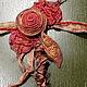 Пояса, ремни ручной работы. Ярмарка Мастеров - ручная работа. Купить Пояс для платья. Handmade. Рыжий, шелковые ленты
