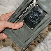 Субкультуры handmade. Livemaster - original item Purse with skull. Wallet leather. Organizer. Clutch. Handmade.