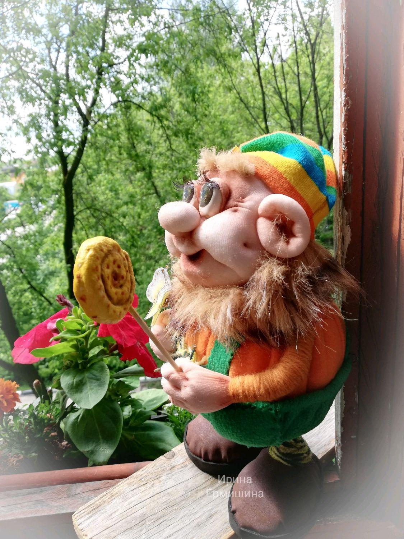 Интерьерная кукла Гном, Игрушки, Москва,  Фото №1