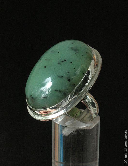 Кольца ручной работы. Ярмарка Мастеров - ручная работа. Купить Кольцо с нефритом. Handmade. Зеленый, натуральные камни