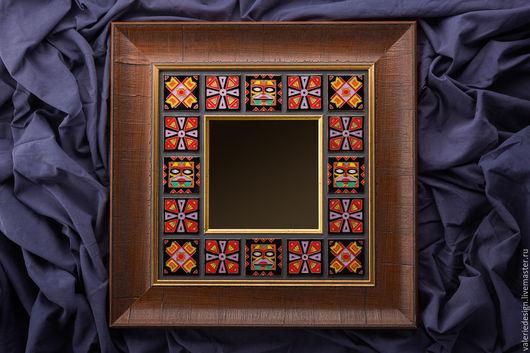 """Зеркала ручной работы. Ярмарка Мастеров - ручная работа. Купить Зеркало """"Африка"""", горячая эмаль по меди. Handmade. Зеркало настенное"""