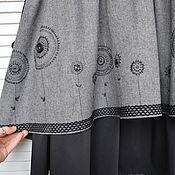 """Одежда handmade. Livemaster - original item Юбка в стиле бохо """"Зимние цветы"""". Handmade."""