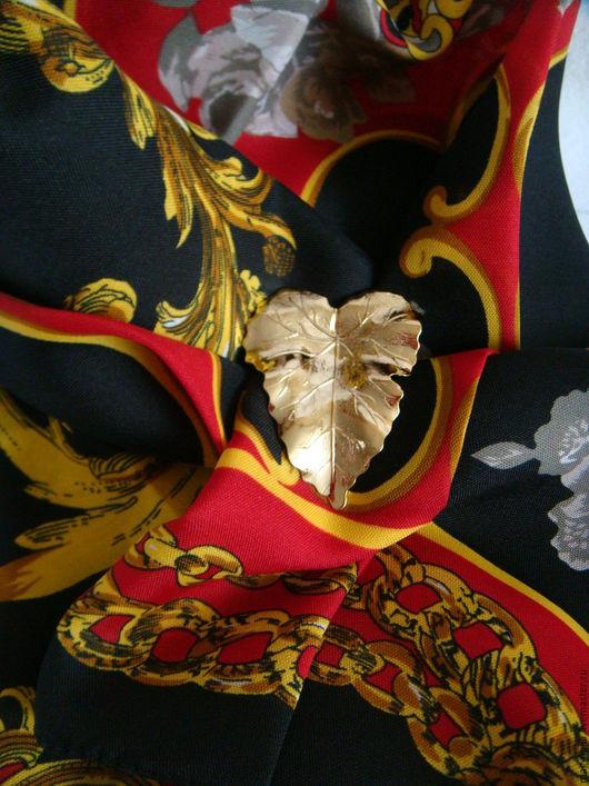 Винтажная одежда и аксессуары. Ярмарка Мастеров - ручная работа. Купить Платок Berkshire Италия 100% Полиэстер и Зажим 1970-е. Handmade.
