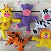 """Куклы и игрушки ручной работы. Ярмарка Мастеров - ручная работа Набор елочных игрушек """"Зверюшки"""". Handmade."""