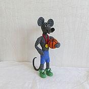 Мягкие игрушки ручной работы. Ярмарка Мастеров - ручная работа Мышь Победитель Интерьерная игрушка. Handmade.