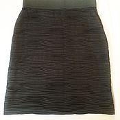 Одежда ручной работы. Ярмарка Мастеров - ручная работа СТРАСТЬ ЦВЕТА НЕФТИ юбка стрейч по выкройке Elie Saab. Handmade.