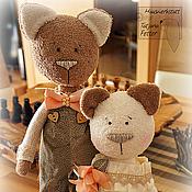 Куклы и игрушки ручной работы. Ярмарка Мастеров - ручная работа Котики Жених и Невеста. Handmade.