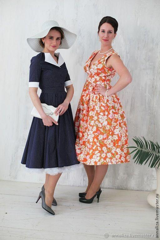 a7d00c02048fbae Купить Ретро платье в стиле 60 Платья ручной работы. Ретро платье в стиле 60 -х 'РомаРомаРомашка'. Анна