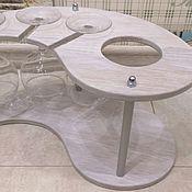 Подставки ручной работы. Ярмарка Мастеров - ручная работа Подставка для вина (винный столик). Handmade.