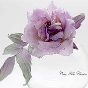 Украшения handmade. Livemaster - original item Flower made of silk. Dusty Rose Brooch.. Handmade.