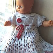Работы для детей, handmade. Livemaster - original item summer dress for girls of 74/80. Handmade.