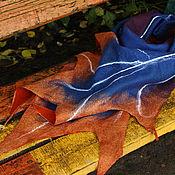 Аксессуары ручной работы. Ярмарка Мастеров - ручная работа Палантин валяный Клен. Handmade.