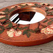 """Для дома и интерьера ручной работы. Ярмарка Мастеров - ручная работа Зеркало """"Розы"""" d 35cm. Handmade."""