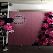Цветы ручной работы. Ярмарка Мастеров - ручная работа Прессволл - баннер с цветами. Handmade.